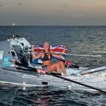 Briton Kiko Matthews arriving in Barbados having smashed the world record as the fastest woman to complete a solo trans-Atlantic row. Photo: Anthony Ball