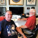 SSCA Commodore Glenn Tuttle of KPC and Dick Giddings of KNC, Dover, North Carolina