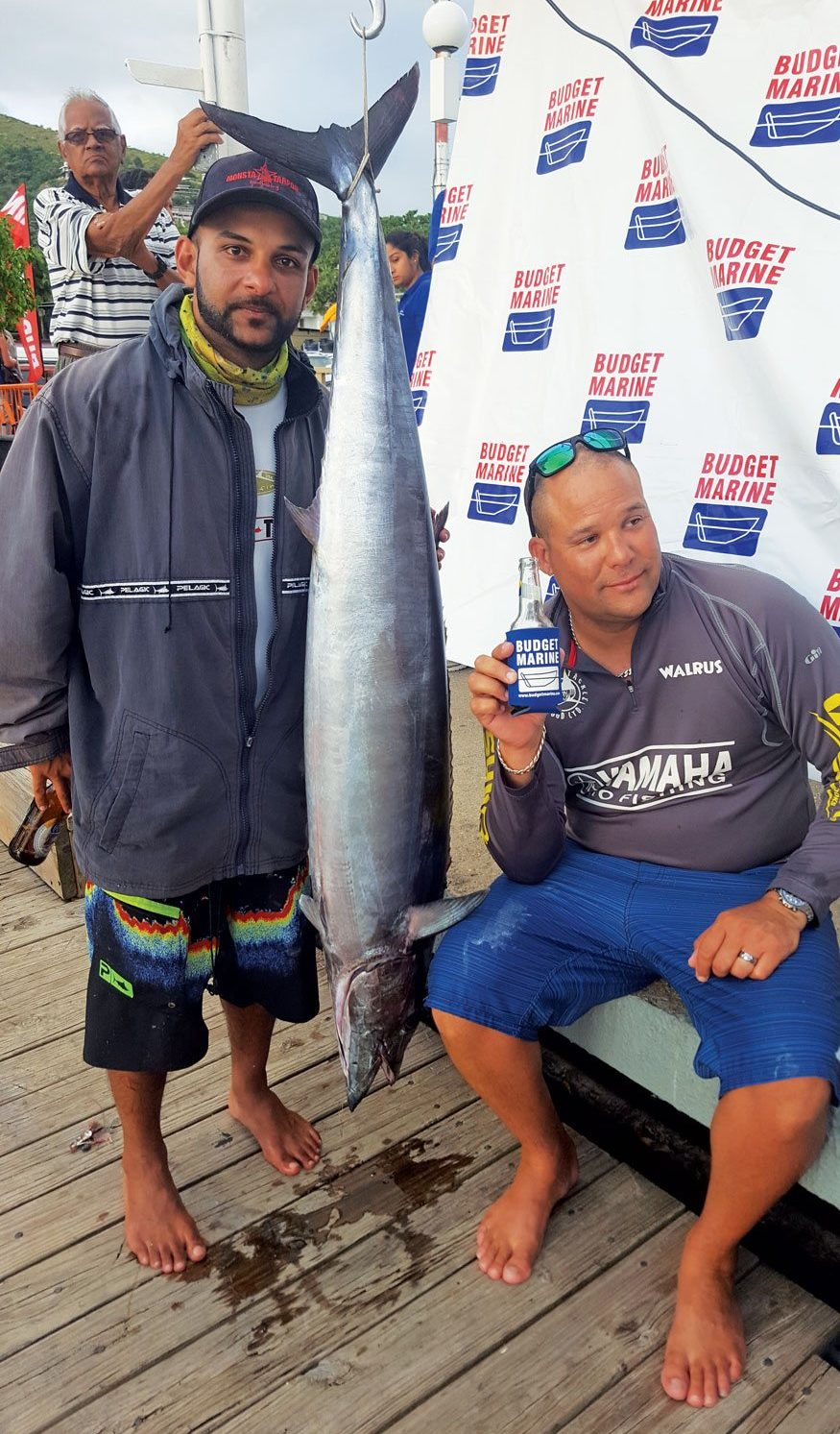 Best Angler and winner of the tournament Captain Dominic Wallace (right) of Roller Troller