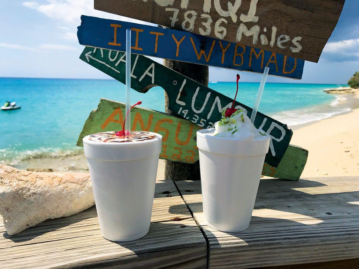 Living the dream … Rhythms on Rainbow Beach. Photo curtesy of the bar