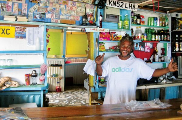 Off the Hook's owner, Curtis, serving customers with a smile. Photos by Jan Hein