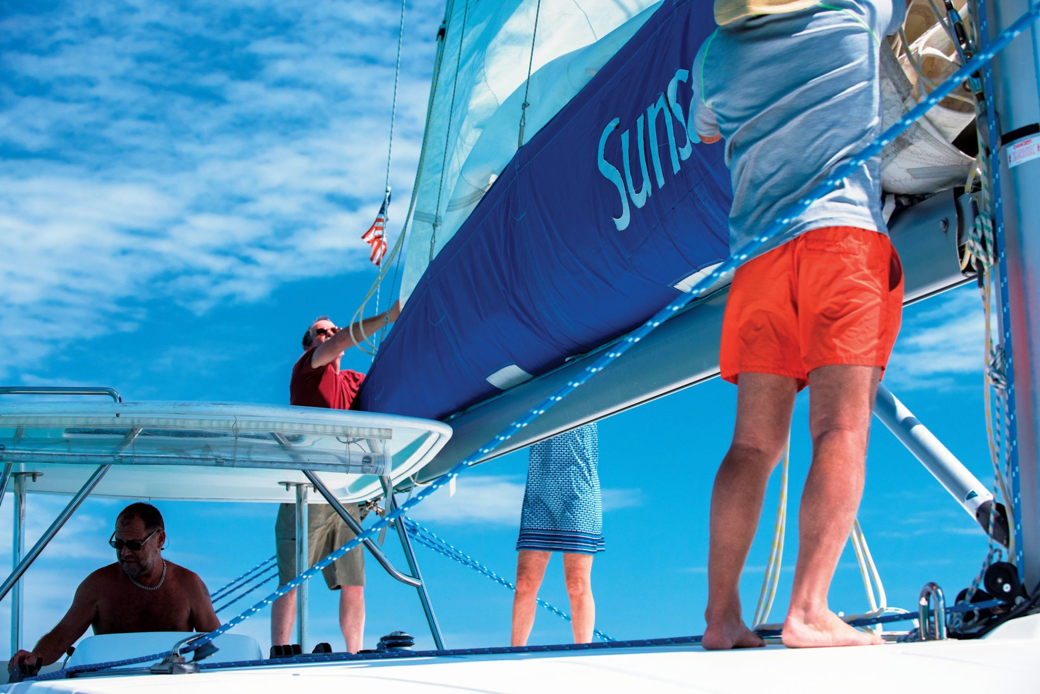 Aboard the catamaran Tropical Escape II, a Sunsail 444. Photos by Sharon Matthews-Stevens
