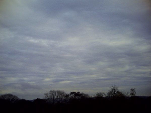 Altostratus associated with a warm front