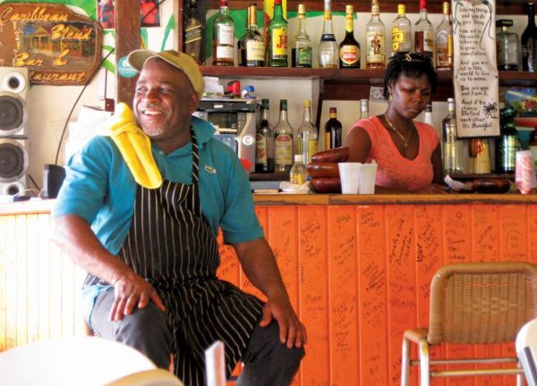 Meeting the chef is part of the prize when searching for island food. Photos by Jan Hein