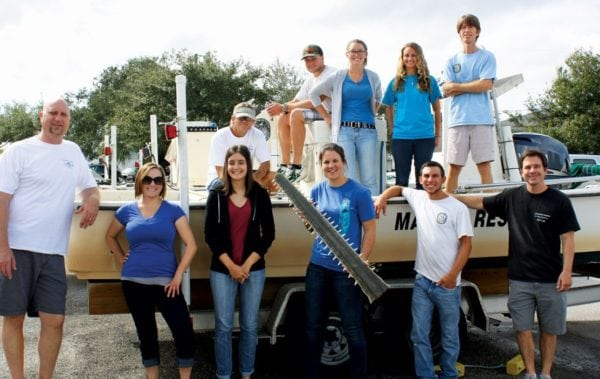 FWRI's smalltooth sawfish research team works out of our Charlotte Harbor Field Laboratory