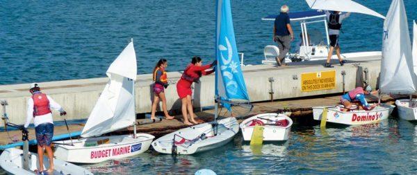 St. Maarten celebrate the rebuilding of the yacht club dock