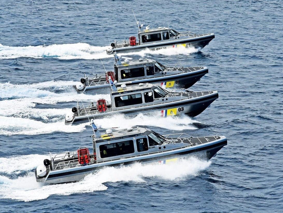 Metal Shark high-speed patrol boats in Curaçao
