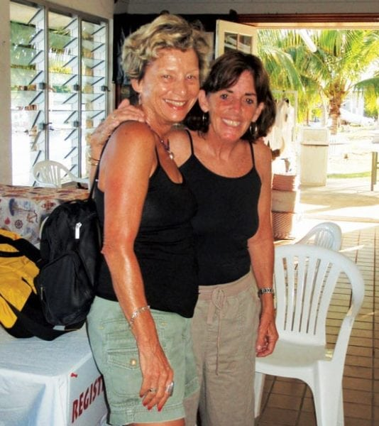 Julie San Martin (left) and Karen Stanton co-directors of the St. Croix International Regatta