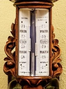 Mercury barometer. Photo courtesy of Flickr
