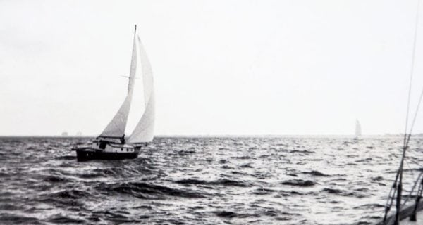 Fatty's first boat was a wooden double-ender sloop purchased when he was 15 years old