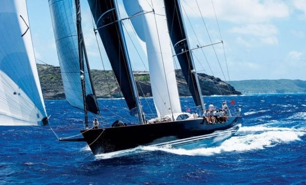 Sir Peter Harrison's Farr 115 Superyacht Sojana, winner of the Lord Nelson Trophy and 1st in CSA 2