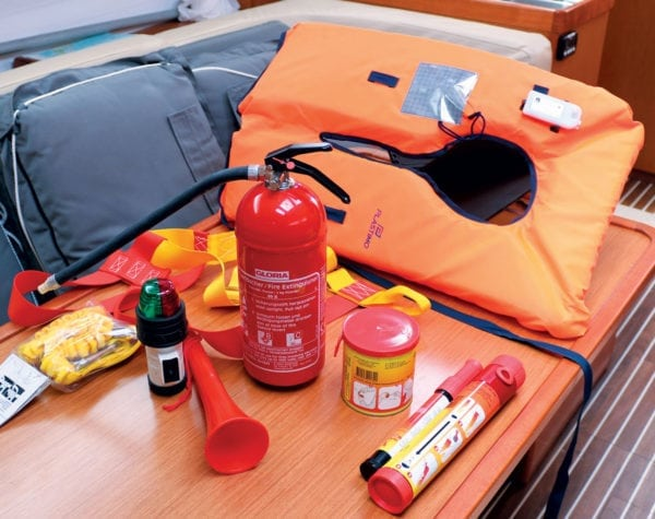 Mandatory safety items for boats 40ft (12.1m) and above