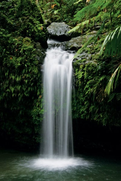 Juan Diego Falls, Puerto Rico. Photo: Puerto Rico Tourism Company UK