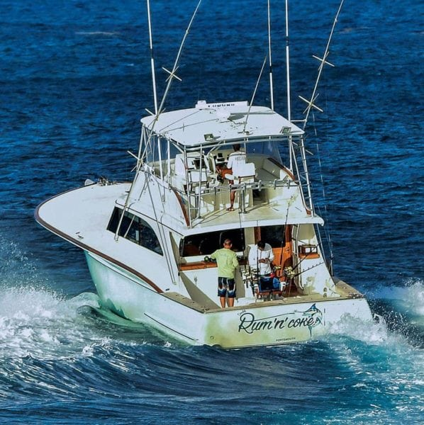 Rum 'N' Coke, Top Boat in the one-day Mikie Pigott Jr. Classic. Rum 'N' Coke angler, Antigua's Mick Liney, was the only angler in the one-day tournament that caught and released a blue marlin. Photo: Michael Simon