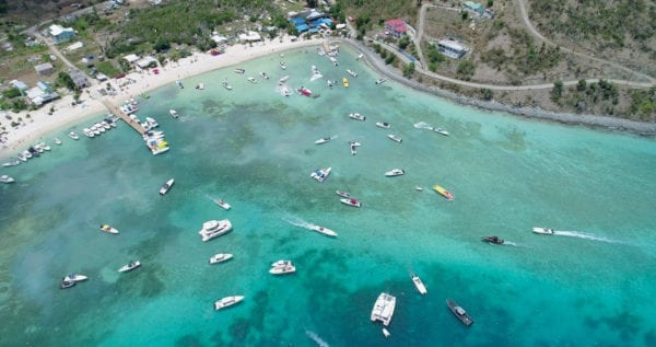 Boats and more boats – Great Harbour duringpokerrun. Photo: Two of Us Photography