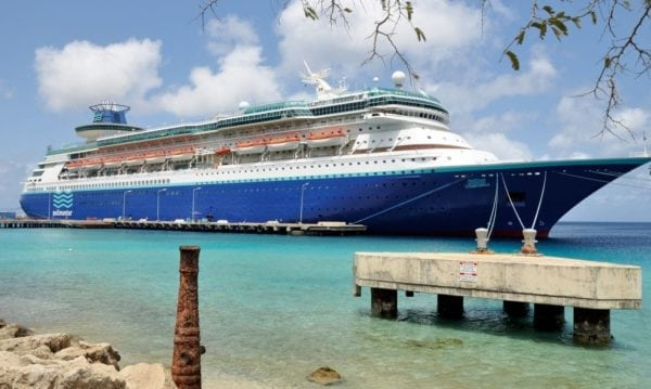 Monarch, moored on Bonaire's newly renovated multi use South Pier, close to downtown Kralendijk. Photo by Els Kroon
