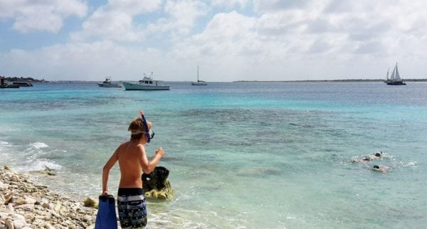 Family snorkel in Bonaire