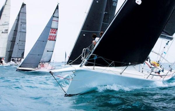 Yachts thrash to windward during Island Water World Grenada Sailing Week 2017
