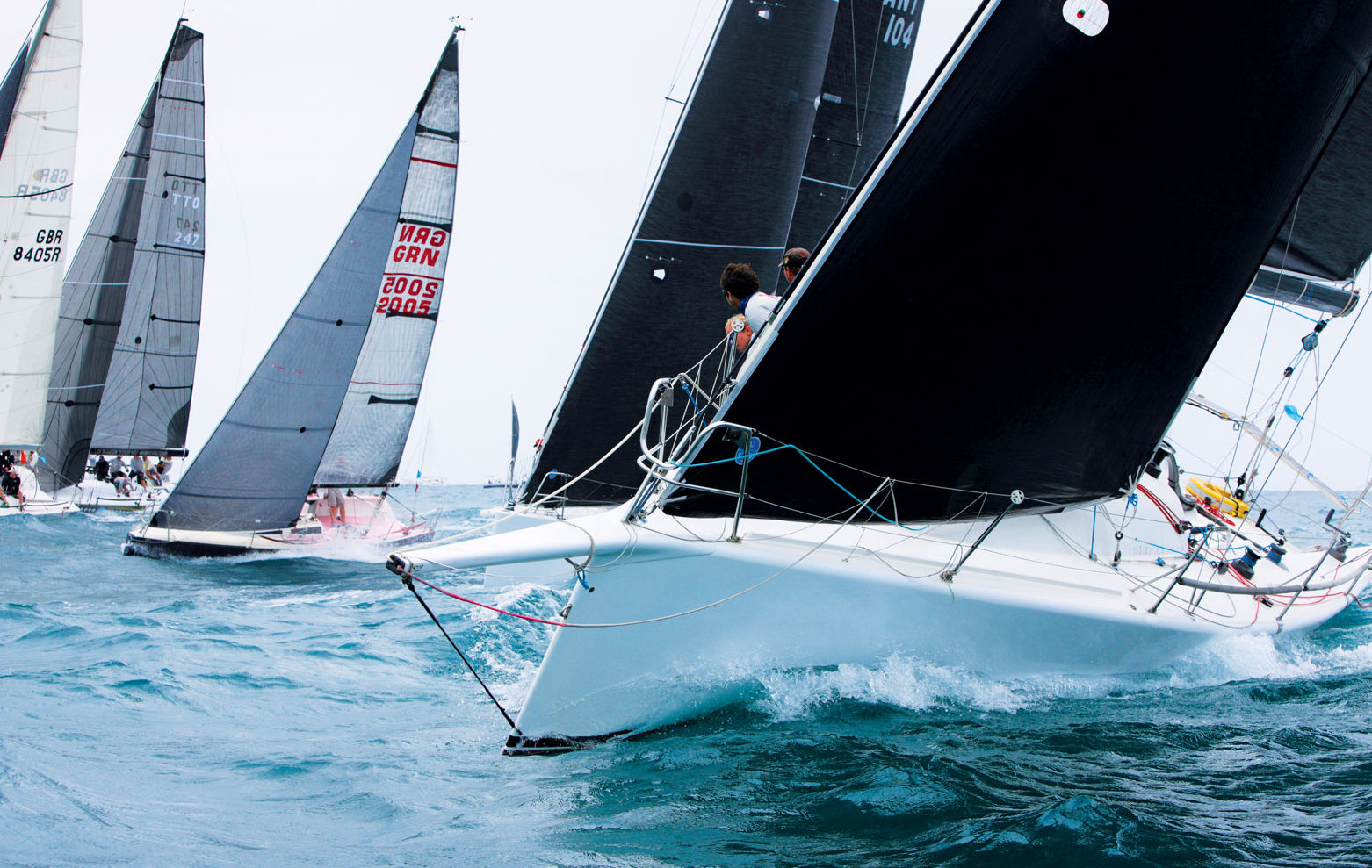Yachts thrash to windward during Island Water World Grenada Sailing Week 2017