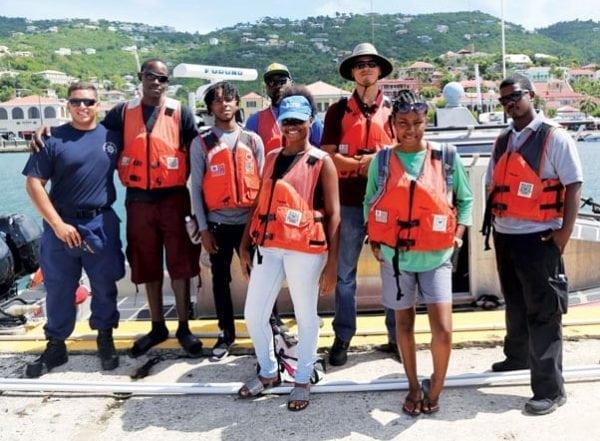 The US Coast Guard lent a hand