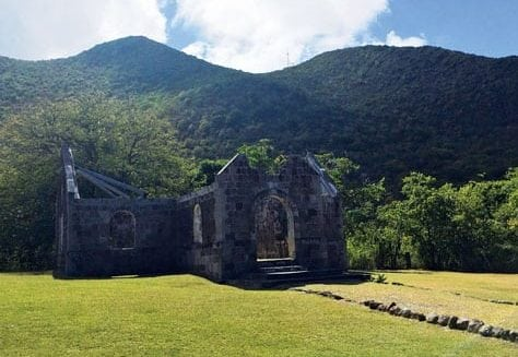 Cottle Church, historic site along our drive, said to be the first interracial church in the Caribbean. Photo by Toni Erdman