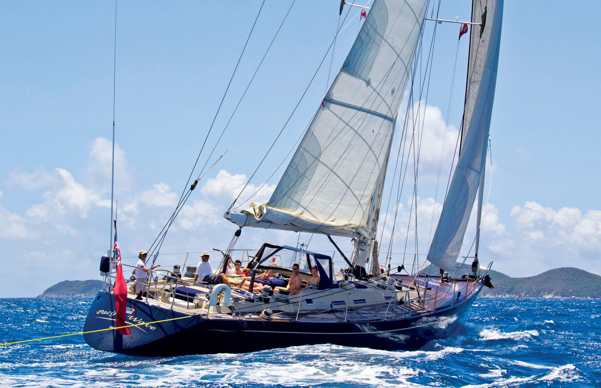 Family sailing in the BVI onboard Pacific Wave