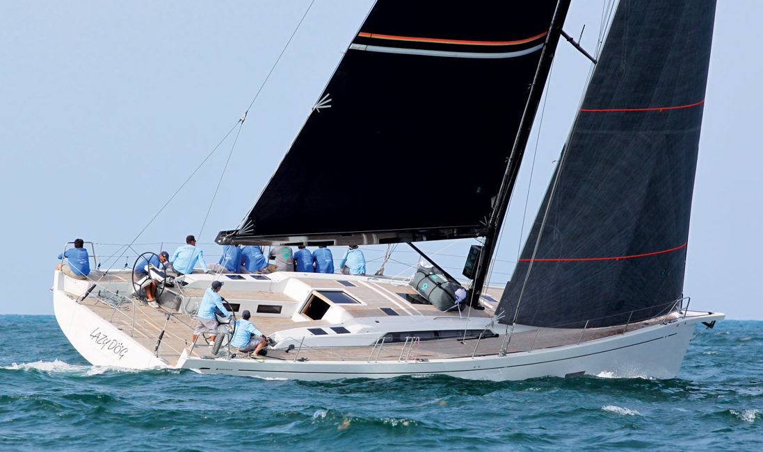 Sergio Sagramoso's winning Grand Soleil 58 Lazy Dog. Photos by Carlos Lee