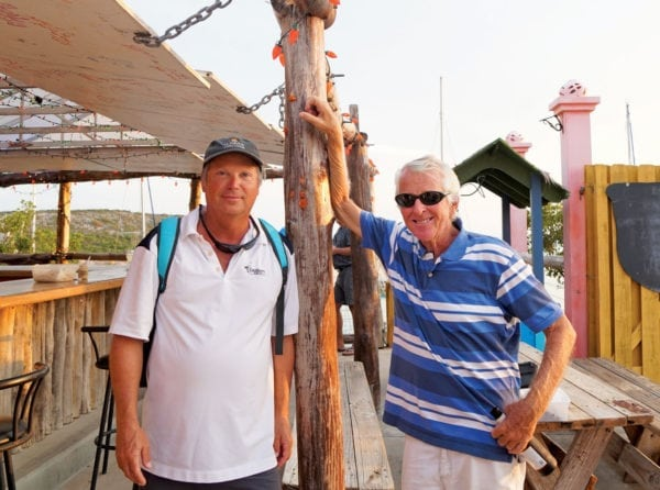Robert Erdman (left) and South Side Marina owner Bob Pratt. Photo by Toni Erdman