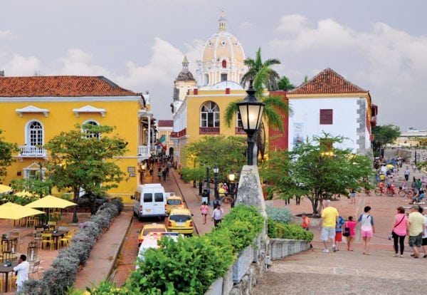 The historic old town of Cartagena and the iconic dome of Iglesia de San Pedro Claver. Photo by Els Kroon
