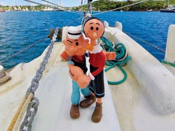 Noodling turns Olive Oyl into Popeye. Photo by Jan Hein