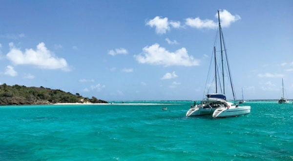 Behind the reef at Tobago Cays. Photo by Capt. Jeff Werner