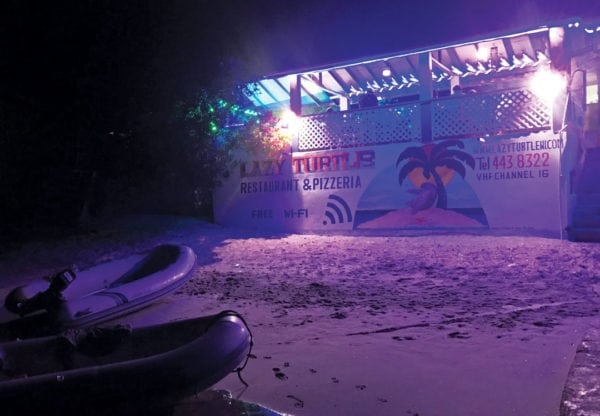 Dinner ashore at Tyrell Bay, Carriacou. Photo by Capt. Jeff Werner