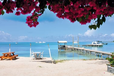 The dock at Setting Point, Anegada Reef Hotel