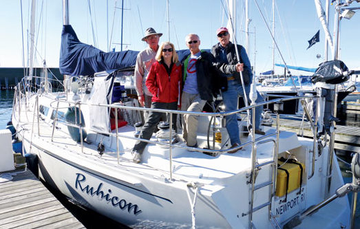 Long time Rally Sailors - Peter Bourke and the crew of Rubicon
