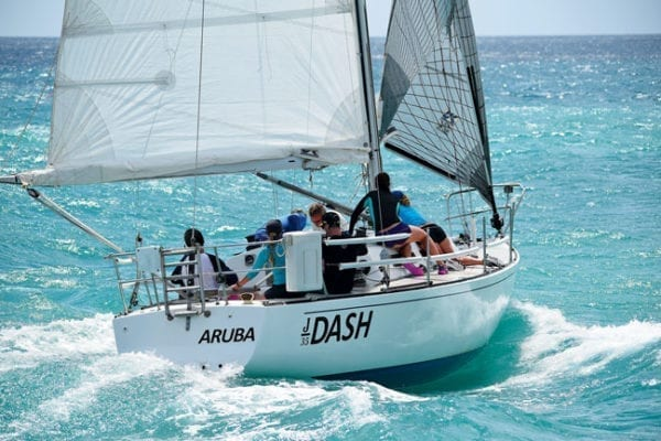 Unstoppable – Dash by name and dash by nature. Photography by Chibi van der Hans for Aruba International Regatta