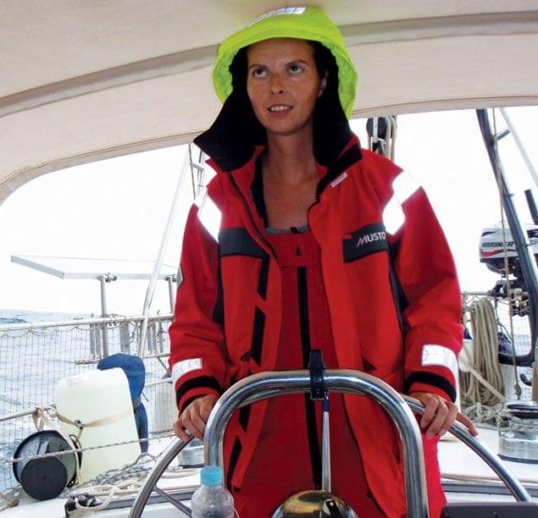 We hand-steered for 11 days. Photo by world cruiser Birgit Hackl