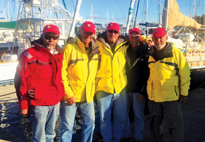 Phillip Worrall and the crew of Rum Runner dressed and ready to go