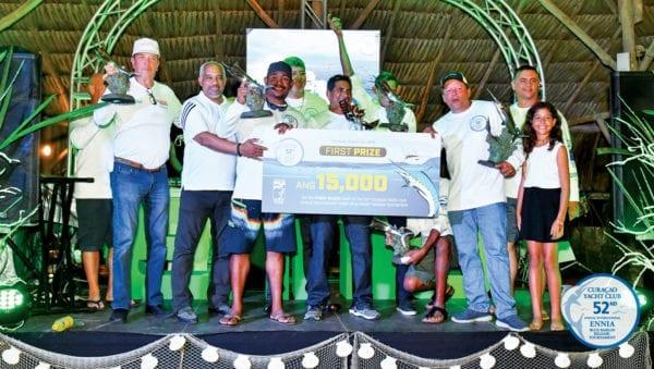 Team Chloe – winners of the Curaçao Marlin Tournament