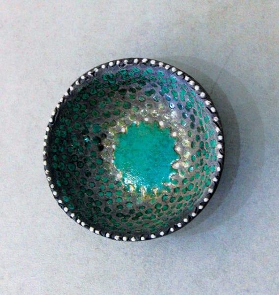 Raku decorative bowl. Photo by Chris Morvan