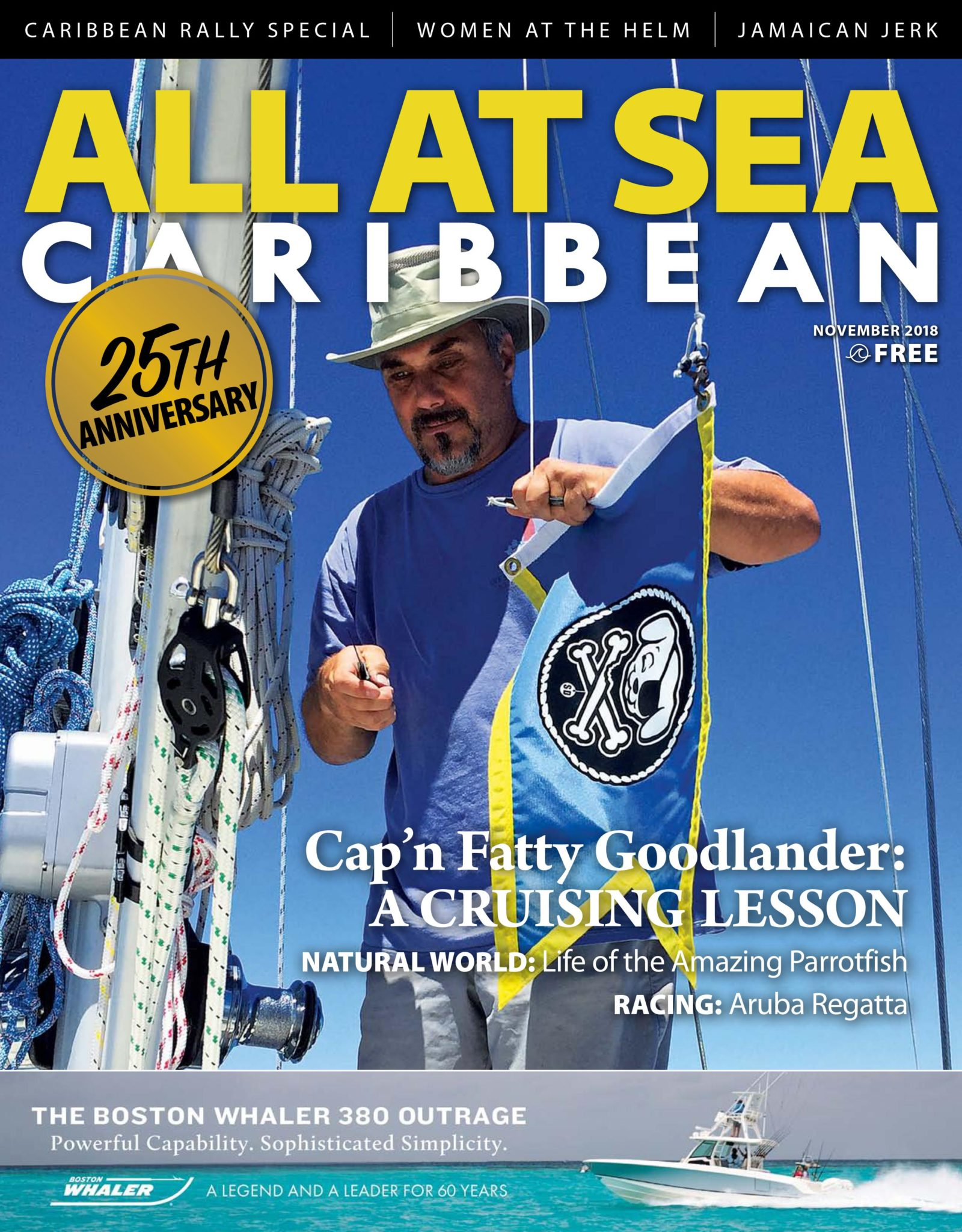 All At Sea - The Caribbean's Waterfront Magazine - November 2018