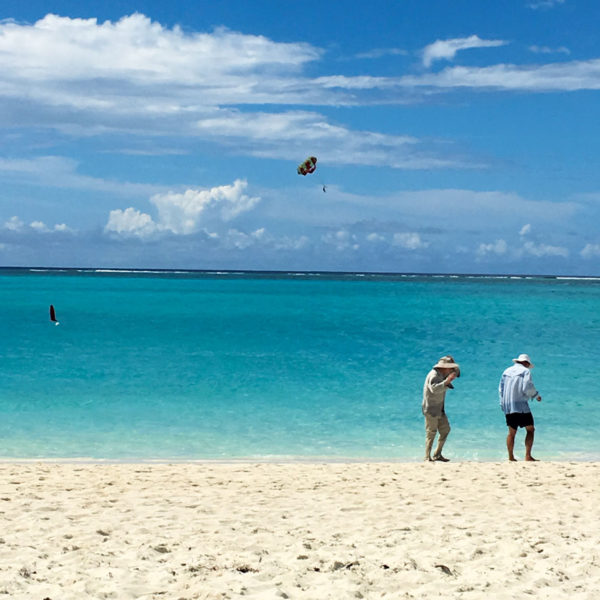 Hold on to your hat – windy Grace Bay Beach. Photos by Toni Erdman, Robert Erdman and Brooke Atkins