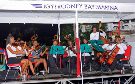 Carols on the Boardwalk at IGY's Rodney Bay Marina. Photo courtesy of Rodney Bay Marina