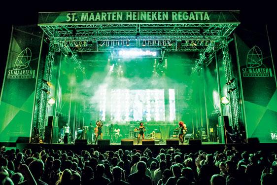 Sint Maarten Heineken Regatta prize giving and party at the Yacht Club Port de Plaisance