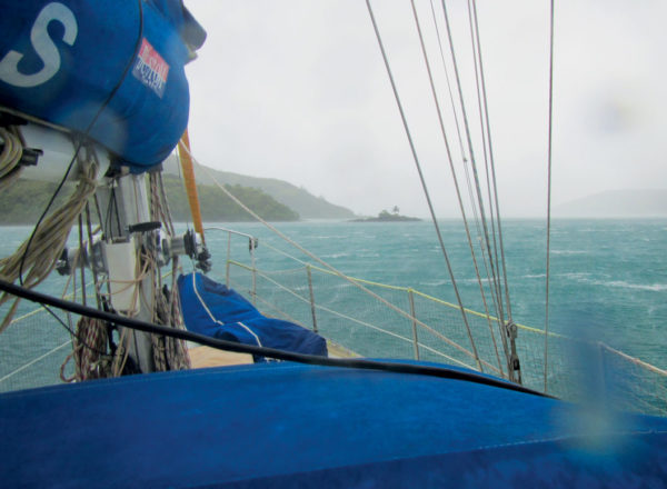 Gusting to 60 knots with good holding and no neighbors to worry about. Photography by Birgit Hackl