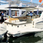 Mercury outboards on parade at the Ft. Lauderdale Boat Show
