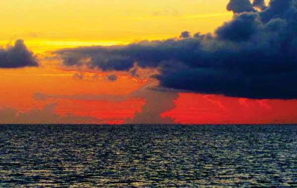 Red Sky at Night - Sailors Delight - Magic while Crossing the Gulf Stream