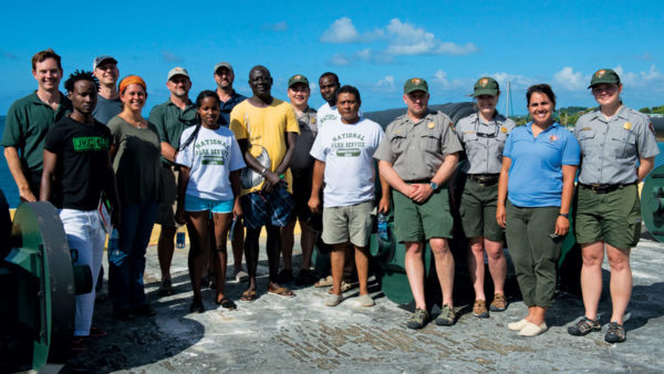 Slave Wrecks Project 2017 team in Christiansted. Photography courtesy of Dr. Meredith Hardy