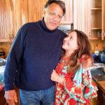 Lin with Michael Marris, editor of Kookaburra Magazine of Kawau.