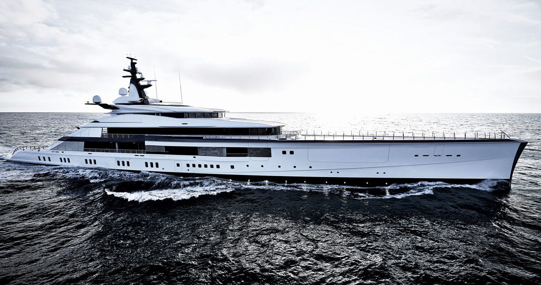 Oceanco delivered its groundbreaking 357-foot yacht, Project Bravo, to her proud owners in December. Credit: Francisco Martinez