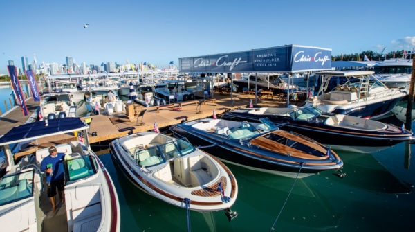 The MIBS features a 60-acre display that includes a massive 67,000-square-foot exhibition space and nearly 500 yachts from the world's foremost yacht and superyacht manufacturers and brokers